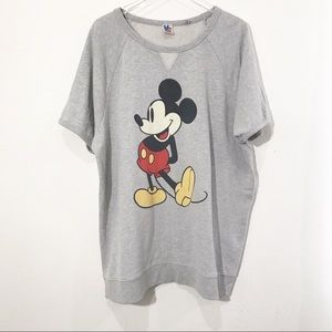Junk Food Mickey Short Sleeve Sweatshirt